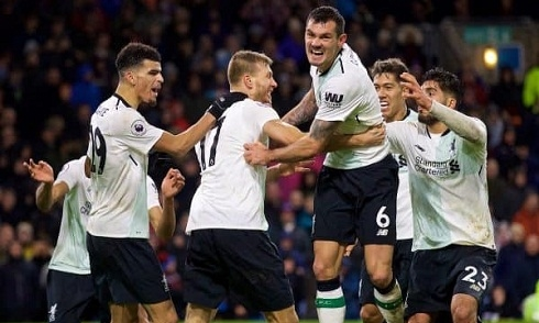Video bóng đá Premier League: Burnley 1-2 Liverpool