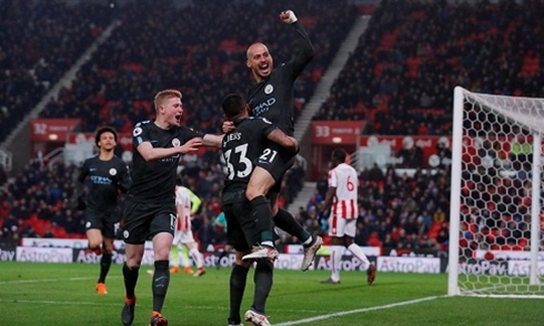 Video bóng đá Premier League: Stoke 0-2 Man City