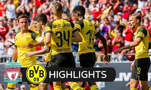 Video bóng đá ICC 2018: Liverpool 1-3 Dortmund