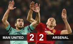 Video bóng đá Premier League: Man Utd 2-2 Arsenal