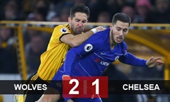 Video bóng đá Premier League: Wolves 2-1 Chelsea