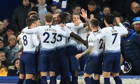 Video bóng đá Premier League: Everton 2-6 Tottenham