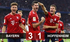 Video bóng đá Bundesliga: Hoffenheim 1-3 Bayern Munich