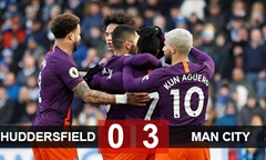 Video bóng đá Premier League: Huddersfield 0-3 Man City