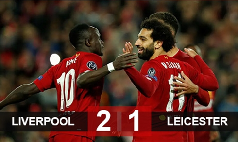 Video bóng đá Premier League: Liverpool 2-1 Leicester