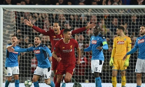 Video bóng đá Champions League 2019/2020: Liverpool 1-1 Napoli