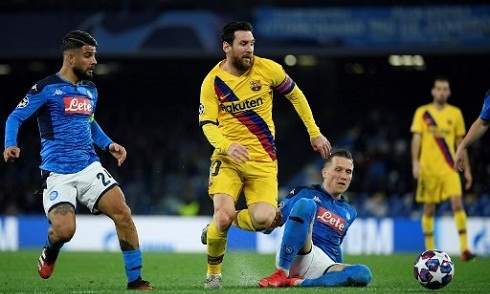 Video bóng đá Champions League 2019-2020: Napoli 1-1 Barcelona
